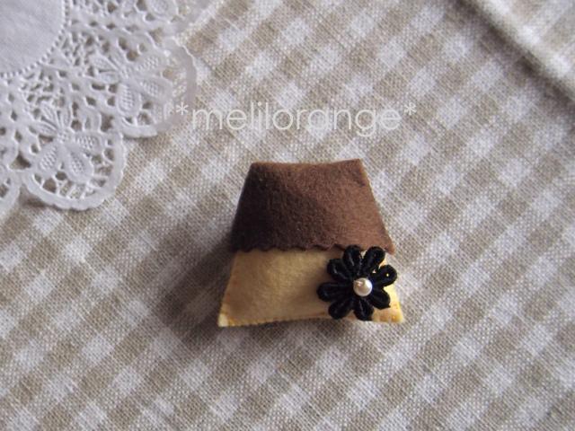 pudding brooch*プリンブローチ 01