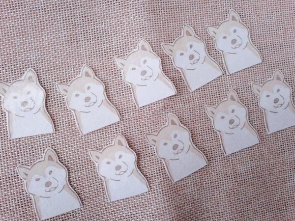 柴犬フレークシール
