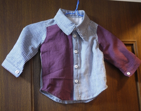 時にはきちんとしたシャツを  ハンドメイド80センチ用
