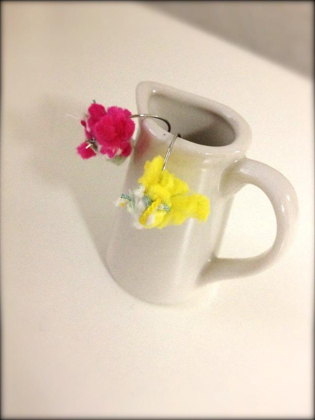 【再販】春のふわふわイヤリング
