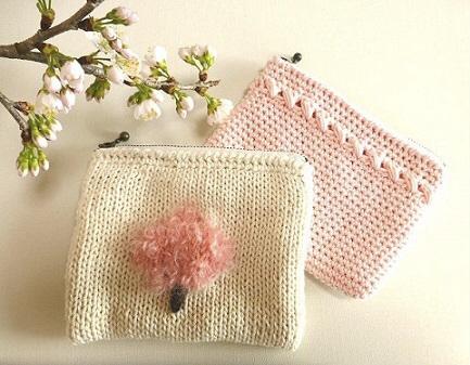 桜のポーチ