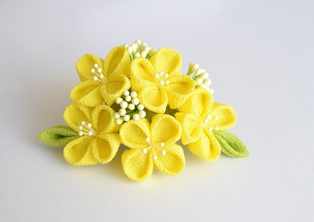 tumami*菜の花 2way飾り