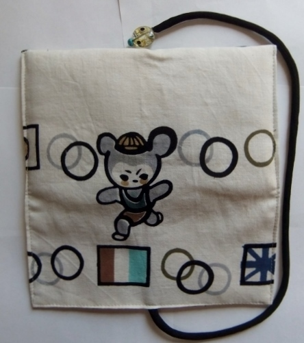 着物リメイク 男の子の浴衣で作った和風財布 1197