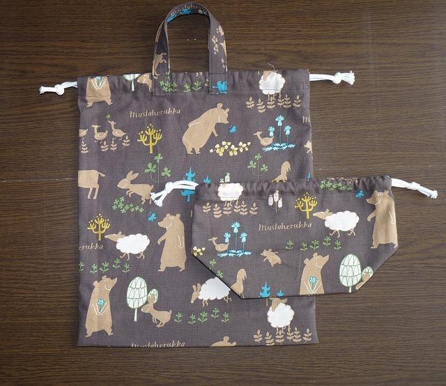 入学入園用 大きい巾着とお弁当袋 No3