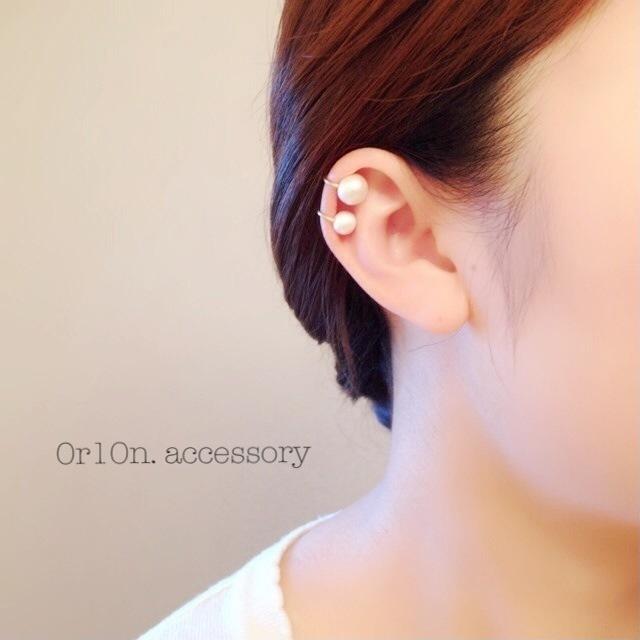 two pear earcuff.