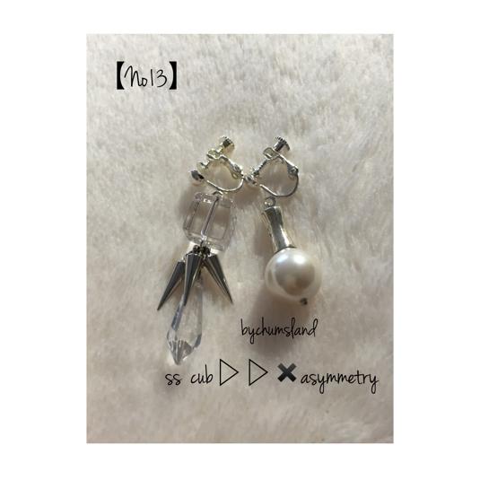 ŷ����??spike??asymmetry earrings