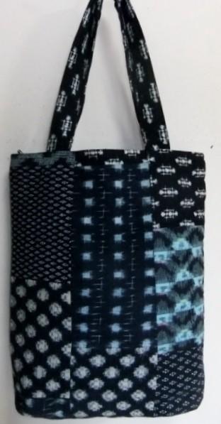 着物リメイク 絣を組み合わせて作った手提げ袋 1202