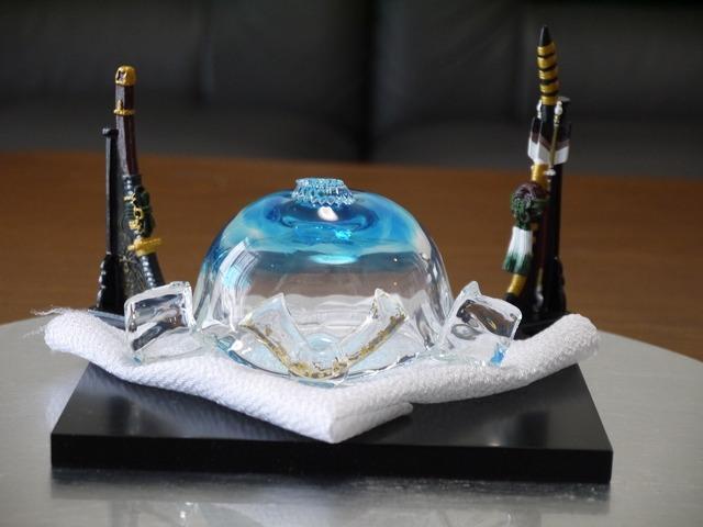 【5月直前セール】ガラスのかぶと(空色)