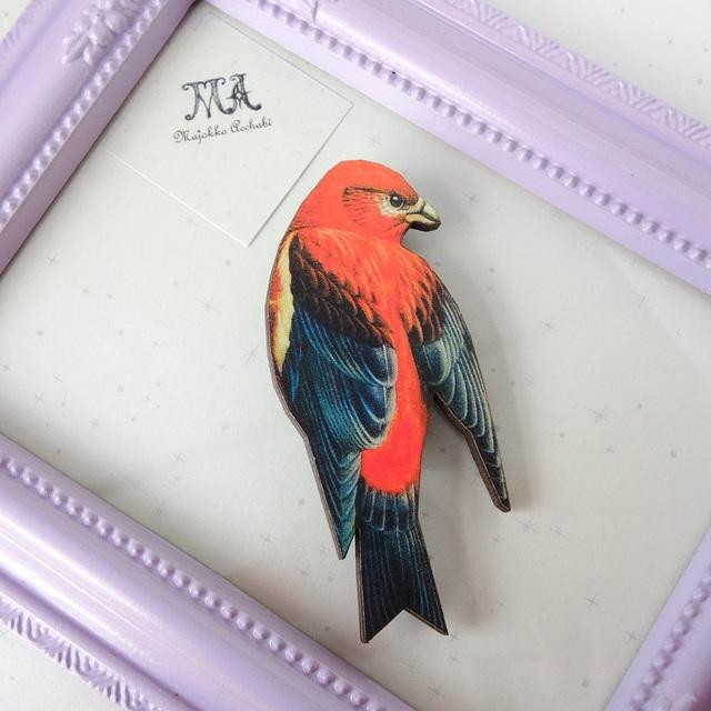 南の綺麗な鳥 ブローチ