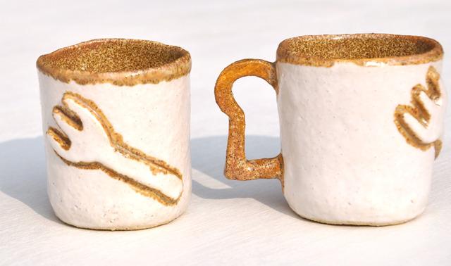 フォーク印のミニマグカップ