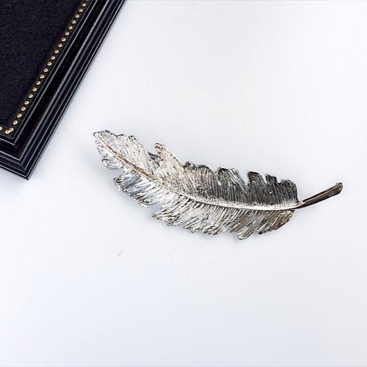 【silver】フェザーバレッタ