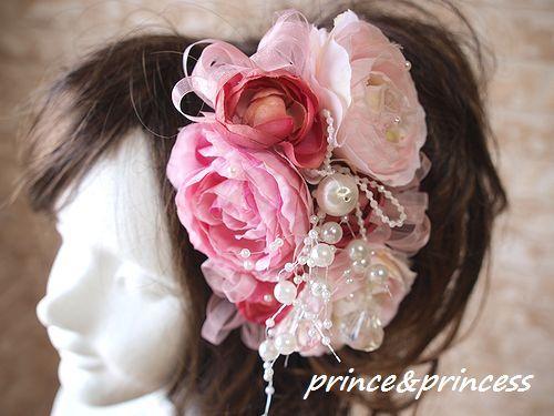 ピンクのキラキラヘッドドレス*