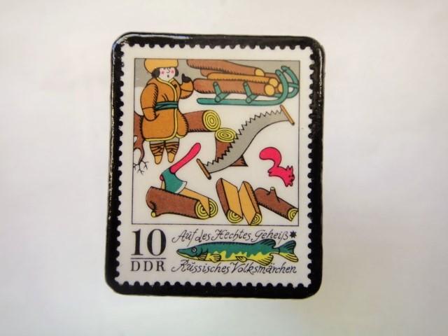 ドイツ 童話切手ブローチ980