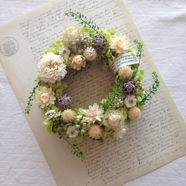 tenori wreath【手のりリース ピスタチオグリーン】
