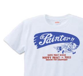 ペイントマン 片面 S〜XL  Tシャツ【受注生産品】