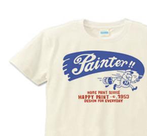 ペイントマン 片面 XS(女性XS〜S)   Tシャツ【受注生産品】