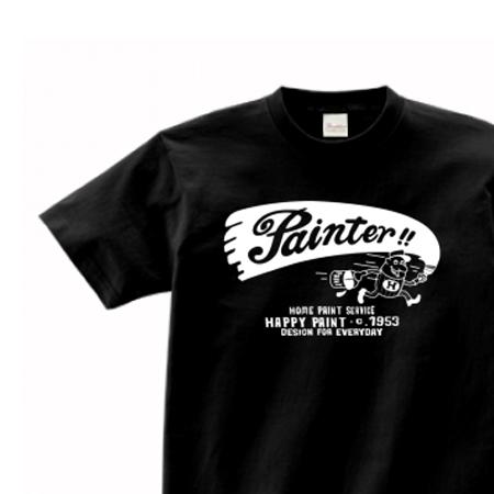 ペイントマン 片面 150.160.(女性M.L) S〜XL Tシャツ【受注生産品】
