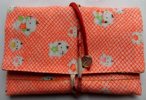 着物リメイク 女の子の着物で作った和風財布 1208