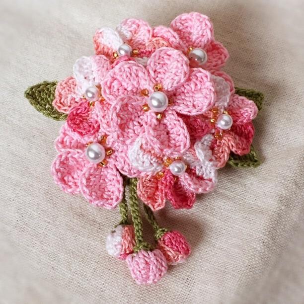 *春色*桜のコサージュ*