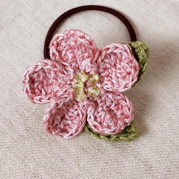 *春色*桜のヘアゴム*1つのお花*