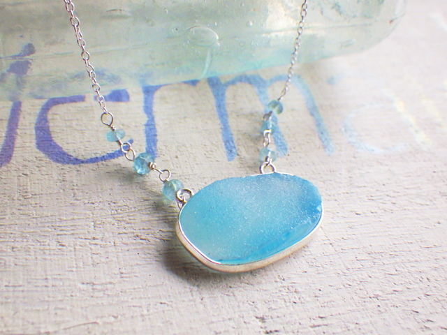 Ocean Druzy Necklace silver 925