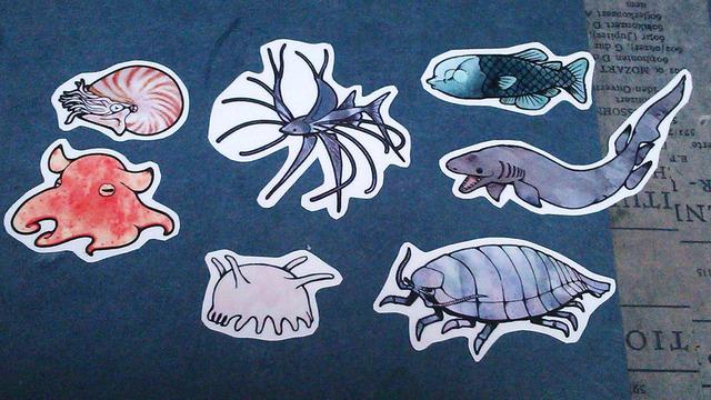 深海生物シール(送料無料)