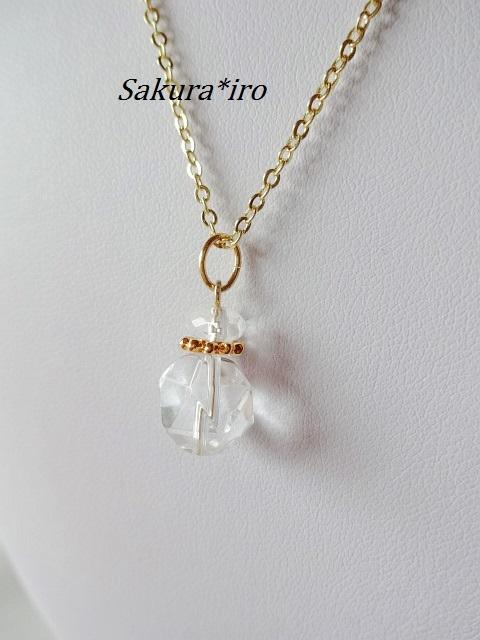 シンプル(カットクリスタル)ネックレス