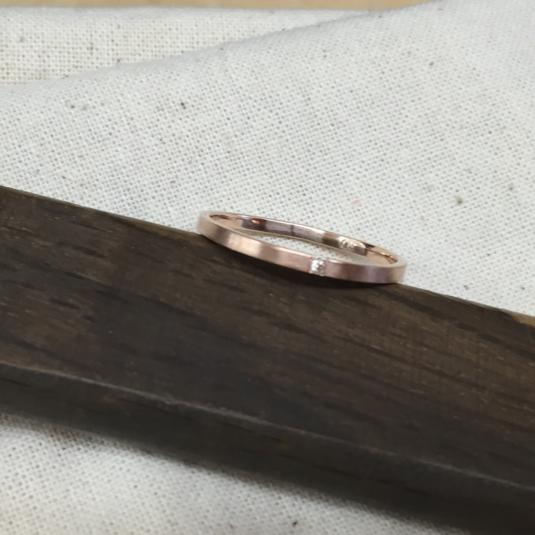 K10ピンクゴールドダイヤリング
