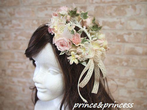 プリザーブドフラワーのミニ花冠