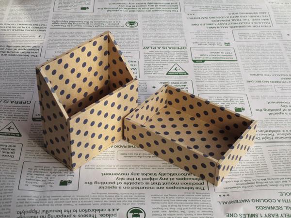 水玉の小箱セット(ディープブルー)