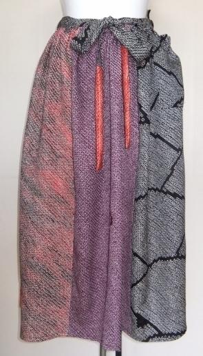 着物リメイク 絞りの羽織で作ったスカート 1217