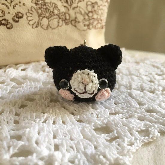 【受注生産】黒猫さん(小)鈴付きイヤホンジャック