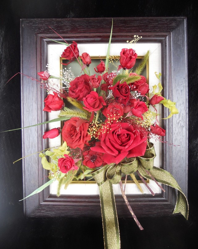 赤バラの額アレンジメント♪母の日♪