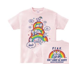虹&アニマルズ〜Don't Worry Be Happy!〜 WS〜WM?S〜XL Tシャツ【受注生産品】