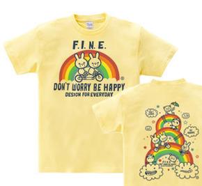 【再販】虹&アニマルズ〜Don't Worry Be Happy!〜 WM〜WL?S〜XL Tシャツ【受注生産品】