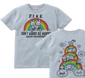 【再販】虹&アニマルズ〜Don't Worry Be Happy!〜 S〜XL  Tシャツ【受注生産品】