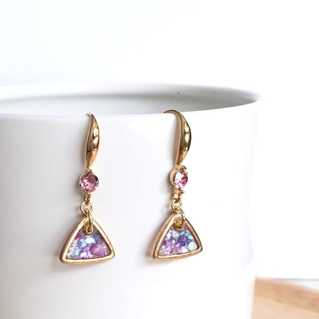 Glitter pink triangle �ڥԥ�����