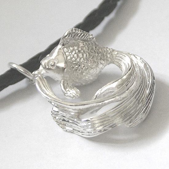 Plump goldfish pendant
