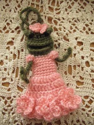 【SALE】あみぐるみ!ケロリップカバー・お花ドレスさん♪