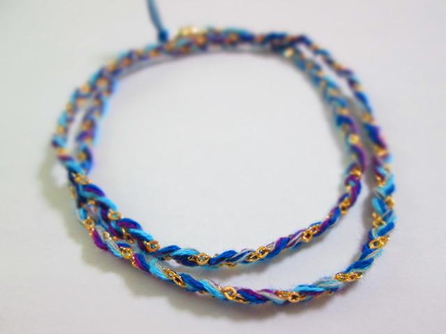 《送料無料》静電気除去ブレスレット 青×紫×水色