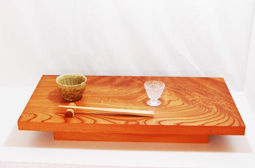 ケヤキの酒卓
