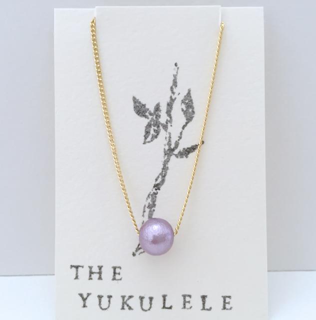 Simple*コットンパールのブレスレット(Purple)