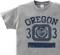 オレゴン 33 オールドスクール風 150.160(女性M.L) Tシャツ 【受注生産品】
