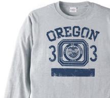 オレゴン 33 オールドスクール風  長袖Tシャツ【受注生産品】