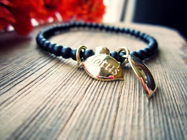 Matte Taste Onyx Stretch Bracelet. ~Lp~