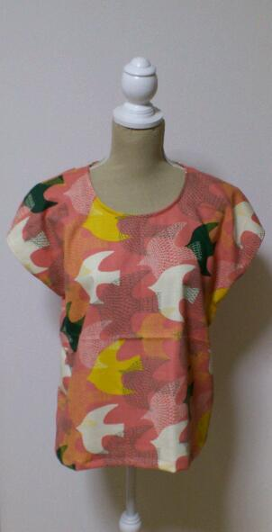 simple*tops * Birds��pink��(M)