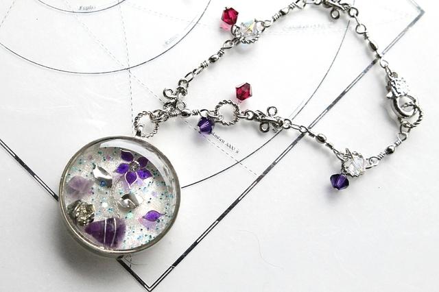 [7377さまご依頼品] 『石の花』・紫幸(α)