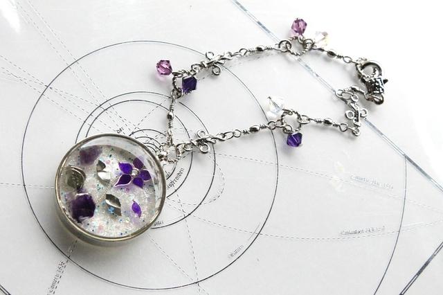 [7377さまご依頼品] 『石の花』・紫幸(β)