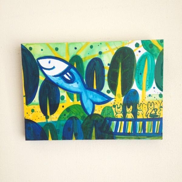NO.2012043 森の暮らし 「お魚さん跳ねている」