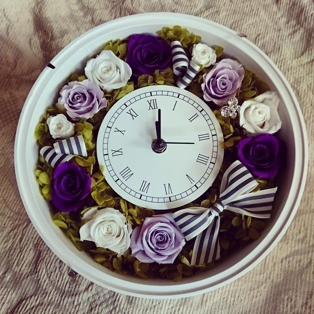 ~ (受注製作)花時計 purple